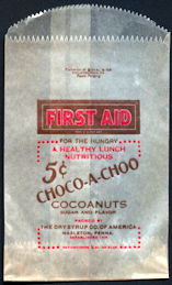 #PC105 - Group of 4 Choco-A-Choo 5¢ Chocolate Snack Bags