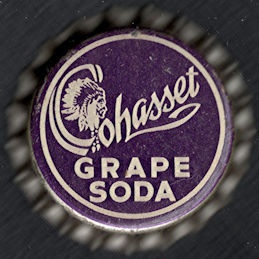 #BC206 - Rare Cork Lined Cohasset Grape Soda Cap with Indian Chief Pictured