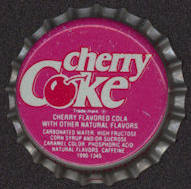 #BC110 - Group of 10 Plastic Lined Cherry Coke Bottle Cap - As low as 10¢ each