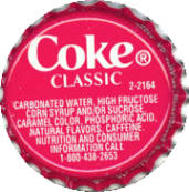 #BC065 - Group of 100 Variant Coke Classic Bottle Caps - Super Deal!