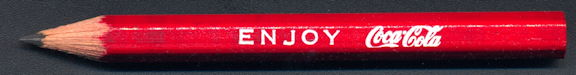 #CC342 - Enjoy Coca-Cola Fishtail Logo Bowling Pencil