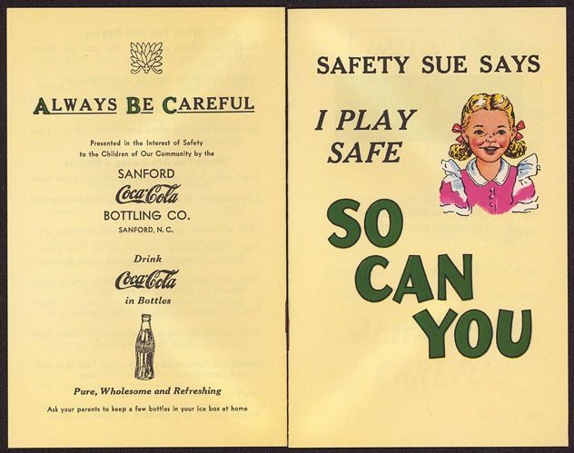#CC264 - Coca Cola Giveaway Booklet with Safety Sue