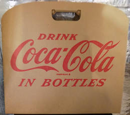 #CC292 - Large Coca Cola Carboard Stadium Seat