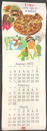 #CC376 - 1977 Coca Cola Four Season Calendar