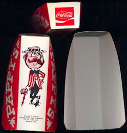#CC334 - Pappy's Hot Dog Holder with Coca Cola Advertising - As low as $1 each