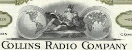 #ZZCE048 - Collins Radio Company Stock Certificate