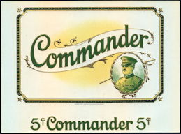#ZLSC099 - Commander 5¢ Cigar Label - General Pershing WWI