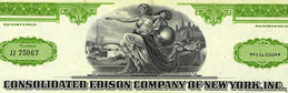 #ZZCE059 - Consolidated Edison Company of New York, Inc. Stock Certificate