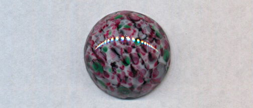 #BEADS0764 - Spectacular Confetti Colored 18mm Glass Cabochon - As low as 50¢ each