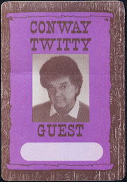 ##MUSICBP0504 - Rare Conway Twitty OTTO Cloth Backstage Pass