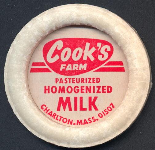 #DC170 - Large Cook's Farm Pasteurized Homogenized Milk Bottle Cap