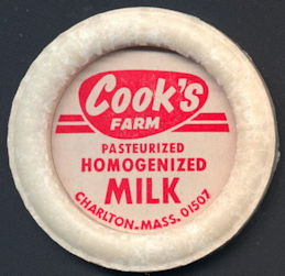 #DC170 - Large Cook's Farm Pasteurized Homogenized Milk Bottle Cap