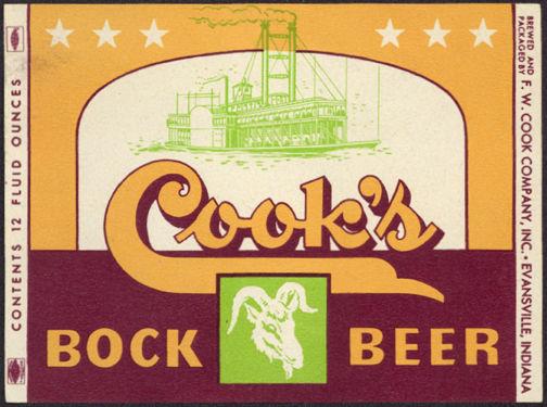 #ZLBE075 - Cook's Bock Beer Label