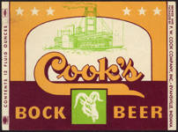 #ZLBE075 - Cook's Bock Beer Label