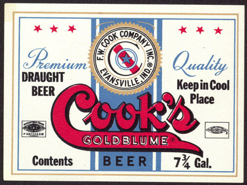#ZLBE074 - Cook's Goldblume Beer Label