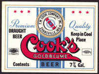 #ZLBE074 - Cook's Goldblume Beer Label