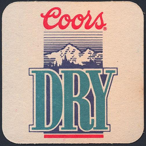 #SP065 - Coors Dry Beer Coaster - As low as 10¢ each
