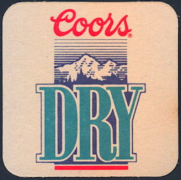 #SP065 - Coors Dry Beer Coaster - As low as 10¢ each