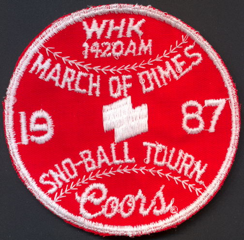 #SP073 - Large Coors Beer 1987 March of Dimes Sno-Ball Tournament Cloth Patch