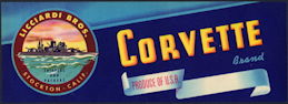 #ZLSG086 - Corvette Grape Crate Label - Battleship