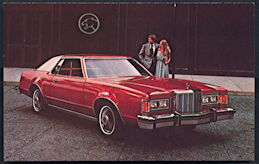 #CA508 - 1979 Mercury Cougar 2-Door Sedan Advertising Postcard