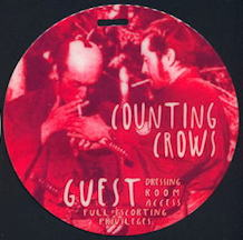 ##MUSICBP0156 - Counting Crows Hard Laminate Groupie Pass for the Outlaw Roadshow Tour - Groupie Pass