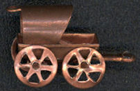 #BEADSC0271 - Solid Copper Covered Wagon  Charm