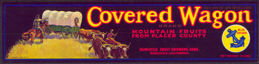 #ZLCA*007 - Covered Wagon Mountain Pear Strip Crate Label