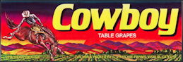 #ZLSG079 - Cowboy Table Grapes Crate Label
