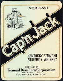 #ZLW084 - Cap'n Jack Whiskey Label