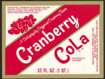 #ZLS161 - Cranberry Cola Soda Bottle Label