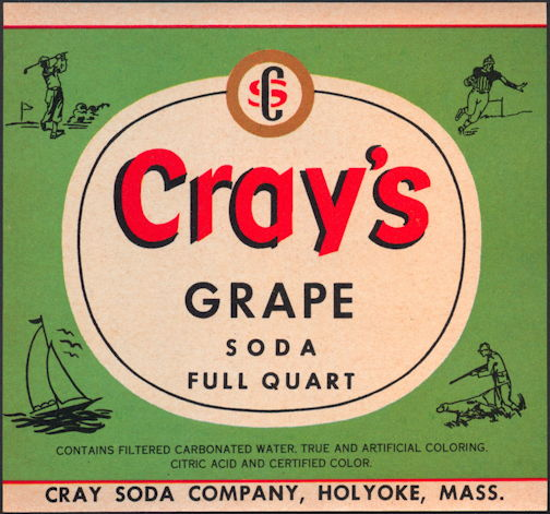#ZLS208 - Cray's Grape Soda Bottle Label