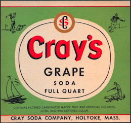 #ZLS208 - Cray's Grape Soda Bottle Label