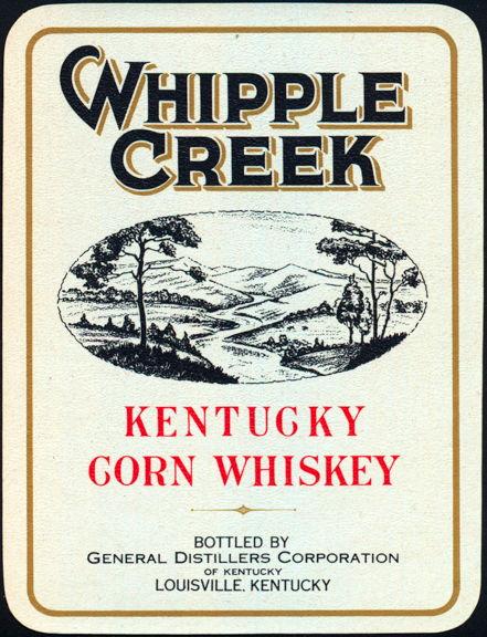 #ZLW078 - Whipple Creek Kentucky Whiskey Label