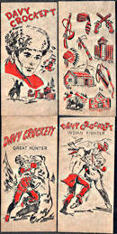 #CH253 - Four Different Davy Crockett Transfer Sheets