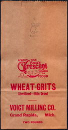 #CS384 - Group of 12 Voigt MIlling Wheat-Grits Bags