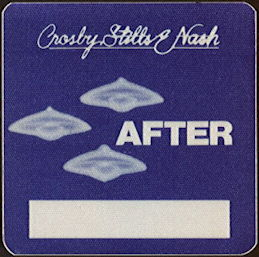 ##MUSICBP0476  - 1982 Crosby, Stills and Nash OTTO Cloth Backstage Pass from the Daylight Again Tour