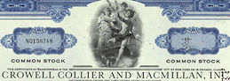 #ZZCE054 - Crowell Collier and Macmillan, Inc. Stock Certificate