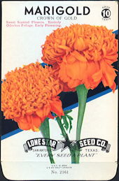 #CE015 - Colorful Crown of Gold Marigold Lone Star 10¢ Seed Pack - As Low As 50¢ each