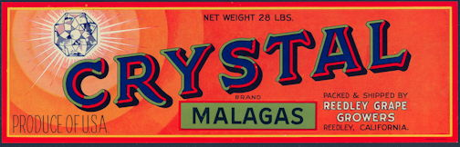 #ZLSG077 - Crystal Brand Malagas Grape Crate Label