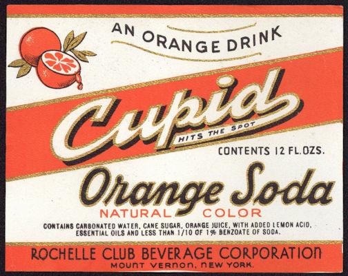 #ZLS169 - Cupid Orange Soda Bottle Label