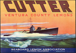 #ZLC454 - Cutter Ventura County Lemons Crate Label - WWI image