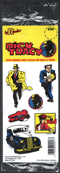 #CH338 - Group of 12 Disney Licensed Dick Tracy Vinyl Decals for Bikes & Trikes