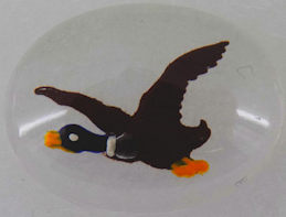 #BEADS0580 - Flying Duck Glass Intaglio