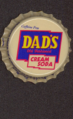 #BC104- Group of 10 Dad's Cream Soda Plastic Lined Soda Caps