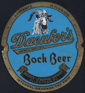 #ZLBE093 - Daeufers Bock IRTP Beer Bottle Label - Goat