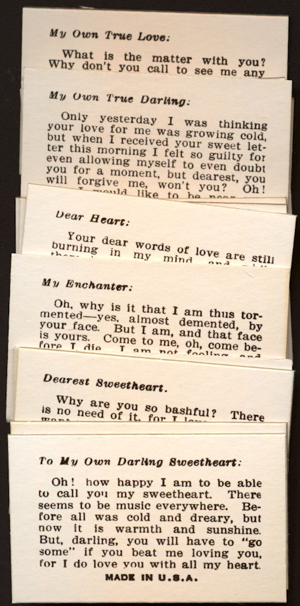 #ZZA269 - Complete 16 Card Female Love Fortune Card Set