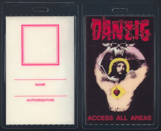 ##MUSICBP0208 - Danzig OTTO Backstage Pass from the 1989 God Don't Like It Tour