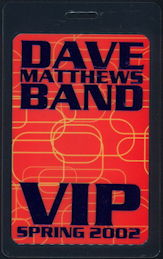 ##MUSICBP0497 - Uncommon OTTO  Laminated Backstage Pass from the 2002 Dave Matthews Band Spring Tour