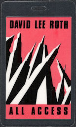 """##MUSICBP0558 - 1988 David Lee Roth OTTO Laminated Backstage Pass from the """"Skyscraper"""" Tour"""